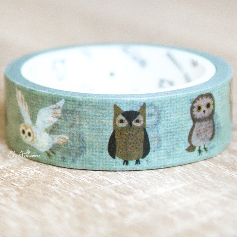 boutique kawaii shop chezfee fourniture papeterie washi masking tape hiboux choette 2