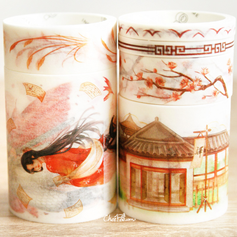 boutique kawaii shop chezfee fourniture papeterie washi masking tape vetement chinois hanfu guerrier 2