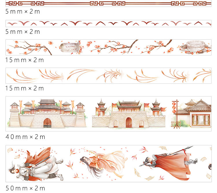 boutique kawaii shop chezfee fourniture papeterie washi masking tape vetement chinois hanfu guerrier 3