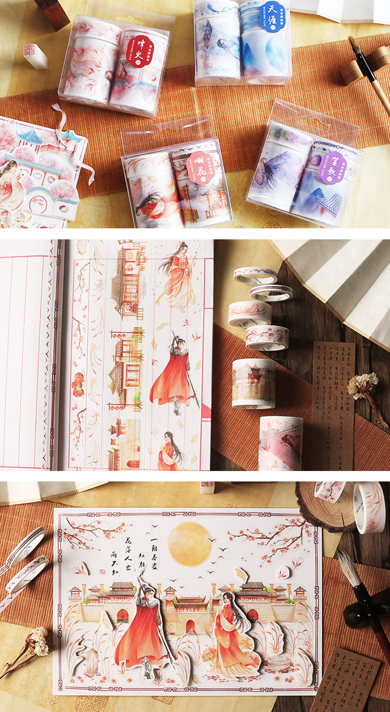 boutique kawaii shop chezfee fourniture papeterie washi masking tape vetement chinois hanfu guerrier 4