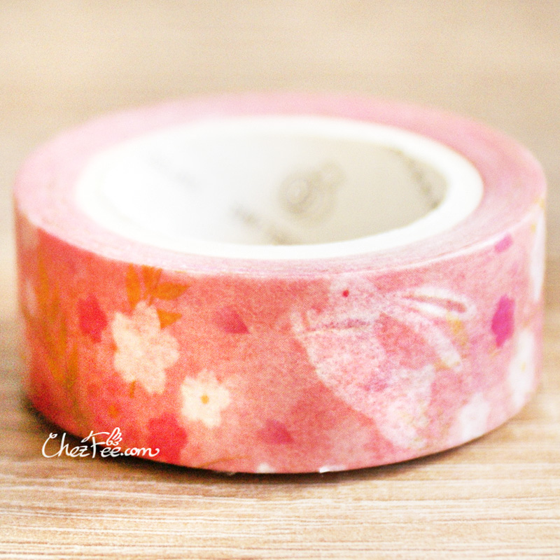 boutique kawaii shop chezfee fourniture papeterie washi masking tape motif japonais sakura lapin 2