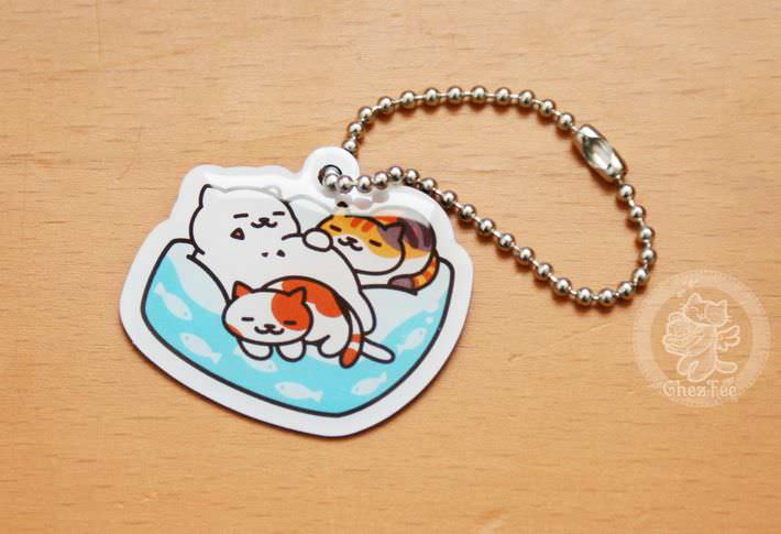 boutique kawaii shop france lille chezfee com gachapon capsule japonais authentique cat neko atsume charm strap dorment1