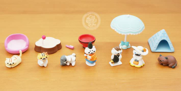 boutique kawaii shop france chezfee com gachapon japonais cat neko atsume figurine3 5