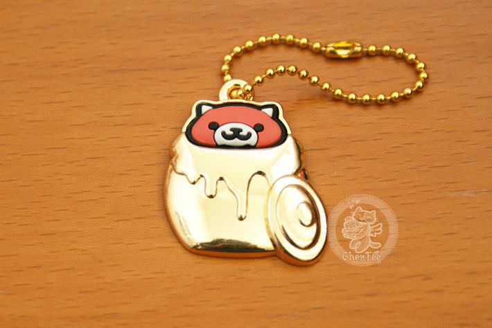 boutique kawaii shop france chezfee com gachapon japonais authentique neko atsume charm strap or roux1