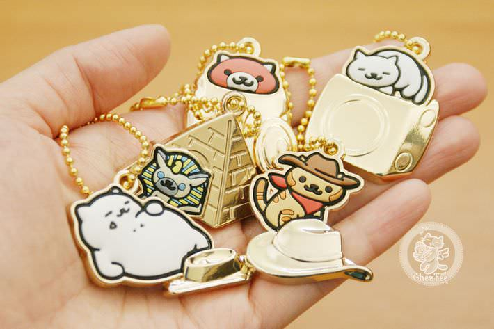 boutique kawaii shop france chezfee com gachapon japonais authentique neko atsume charm strap or5