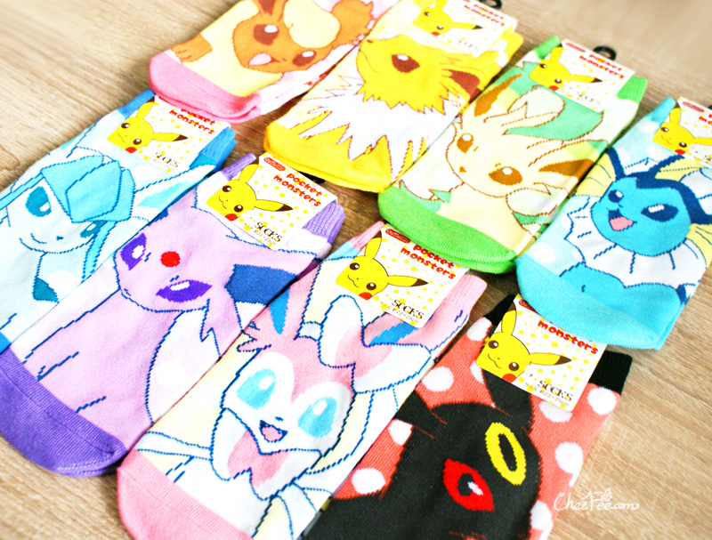 boutique kawaii shop chezfee chaussettes japonais pokemon evoli eevee 3