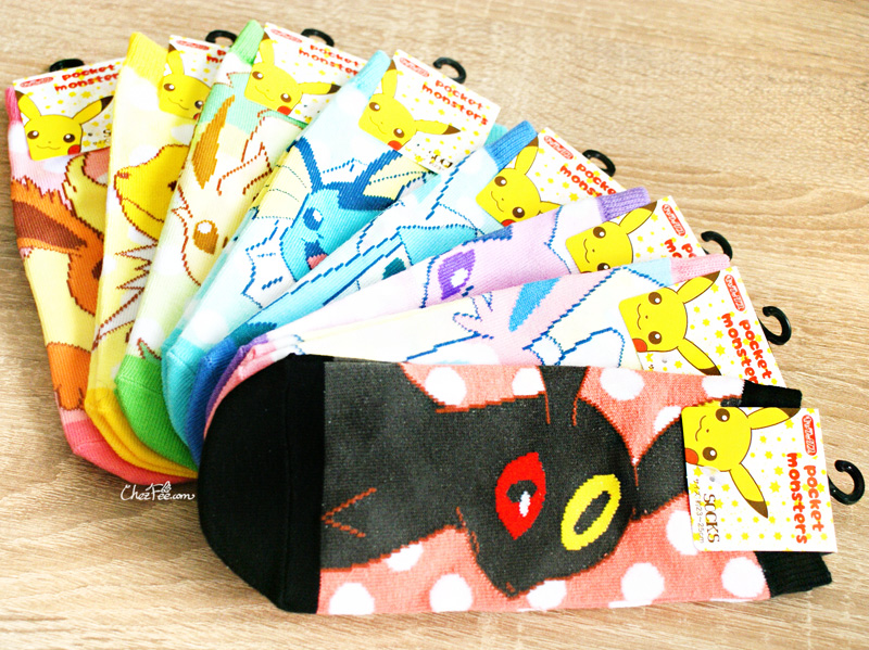boutique kawaii shop chezfee chaussettes japonais pokemon evoli eevee 4