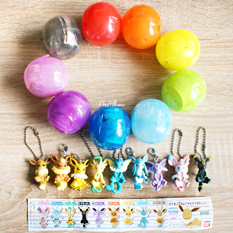 boutique kawaii objet shop chezfee pokemon officiel gashapon figurine evoli evolution 1