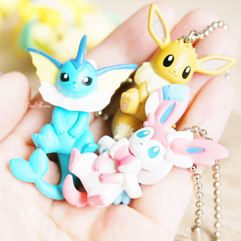 boutique kawaii objet shop chezfee pokemon officiel gashapon figurine evoli evolution 6