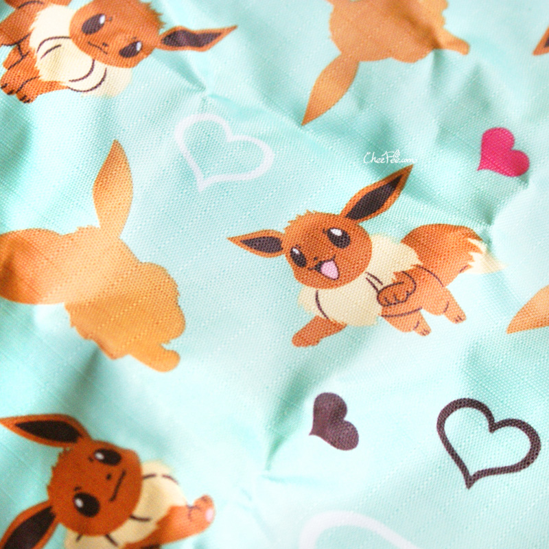 boutique kawaii cute shop chezfee tote bag sac ecolo pliable pokemon evoli turquoise 4