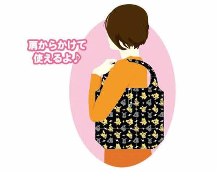 boutique kawaii cute shop tote bag sac ecolo pliable pokemon pikachu evoli 6