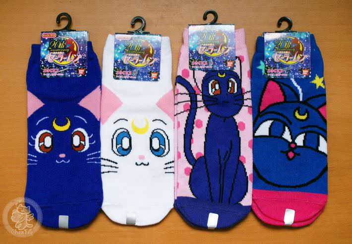 boutique kawaii shop france chezfee com chaussette kawaii sailor moon bandai authentique chat1