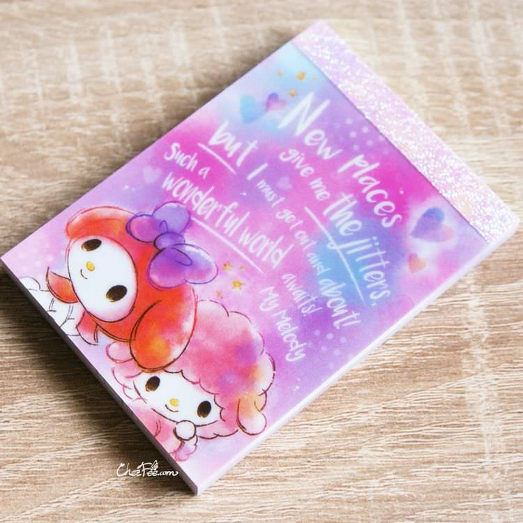 boutique papeterie kawaii shop chezfee sanrio officiel my melody carnet memo 1