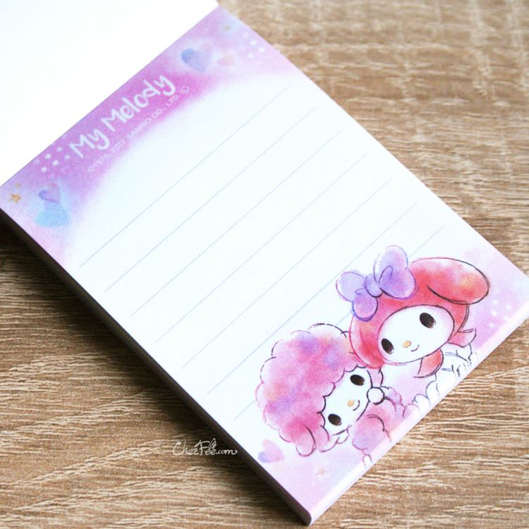 boutique papeterie kawaii shop chezfee sanrio officiel my melody carnet memo 3