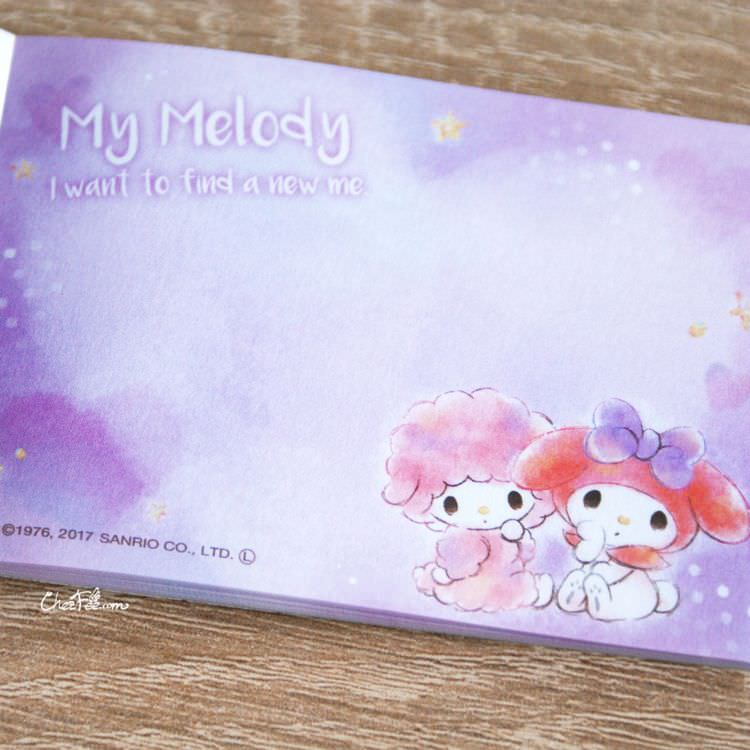 boutique papeterie kawaii shop chezfee sanrio officiel my melody carnet memo 4