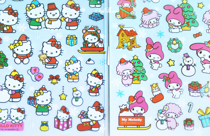 boutique kawaii france chezfee autocollant sticker sanrio authentique hellokitty hellokitty noel 2