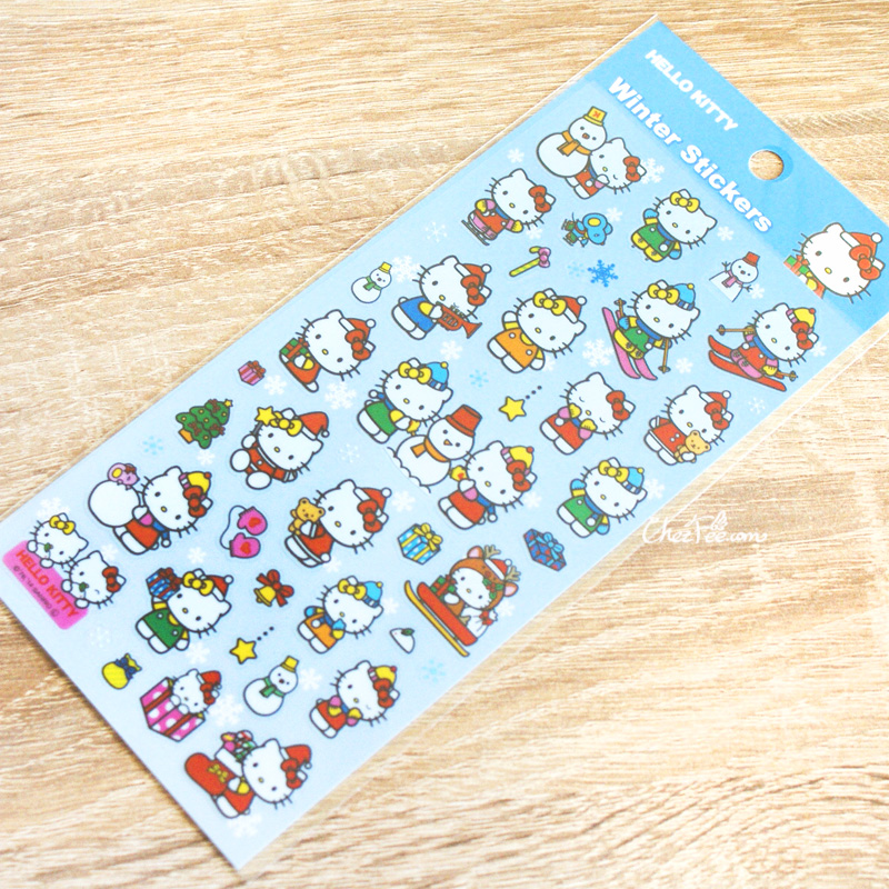 boutique kawaii france chezfee autocollant sticker sanrio authentique hellokitty noel 1