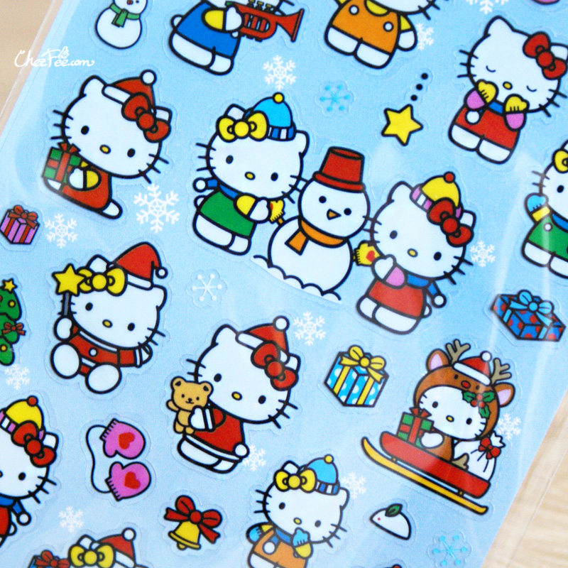 boutique kawaii france chezfee autocollant sticker sanrio authentique hellokitty noel 3