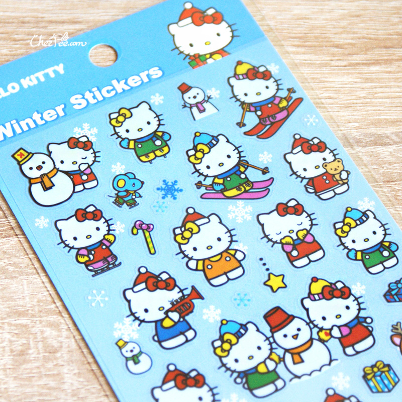 boutique kawaii france chezfee autocollant sticker sanrio authentique hellokitty noel 4