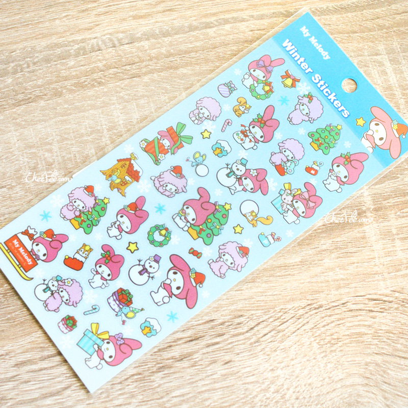 boutique kawaii france chezfee autocollant sticker sanrio authentique mymelody noel 1