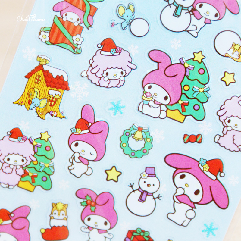 boutique kawaii france chezfee autocollant sticker sanrio authentique mymelody noel 3