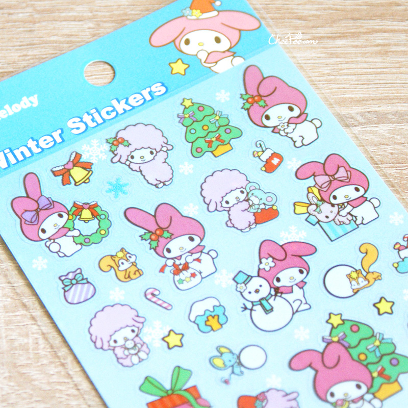 boutique kawaii france chezfee autocollant sticker sanrio authentique mymelody noel 4