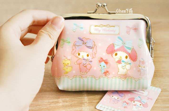boutique kawaii shop chezfee my melody sanrio porte monnaies strap lolita rose4