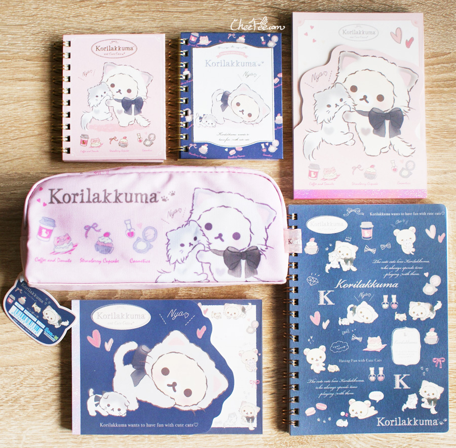 boutique kawaii shop cute sanx officiel papeterie japonaise rilakkuma chat 1s