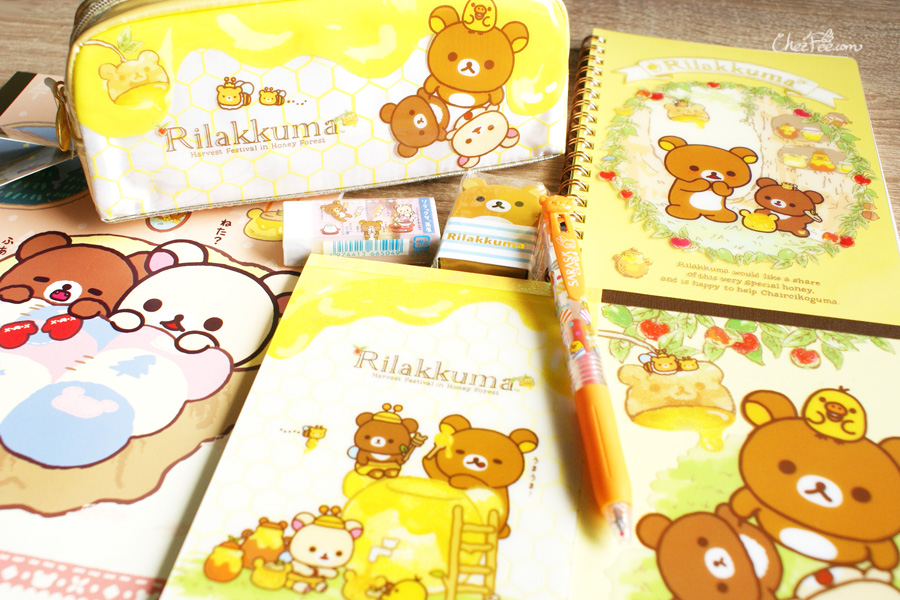 boutique kawaii shop cute sanx officiel papeterie japonaise rilakkuma miel 2s