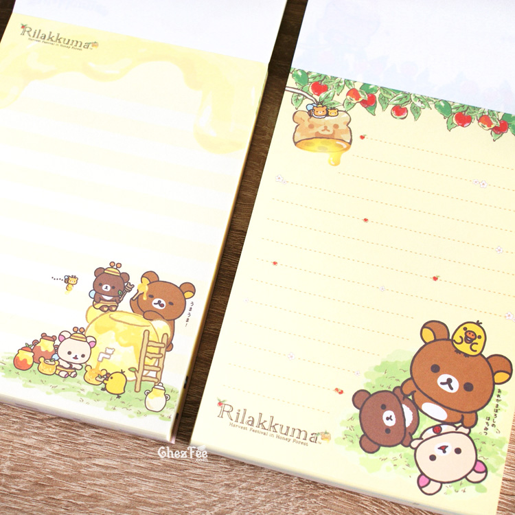 boutique kawaii shop chezfee sanx officiel rilakkuma miel foret carnet illustre 3