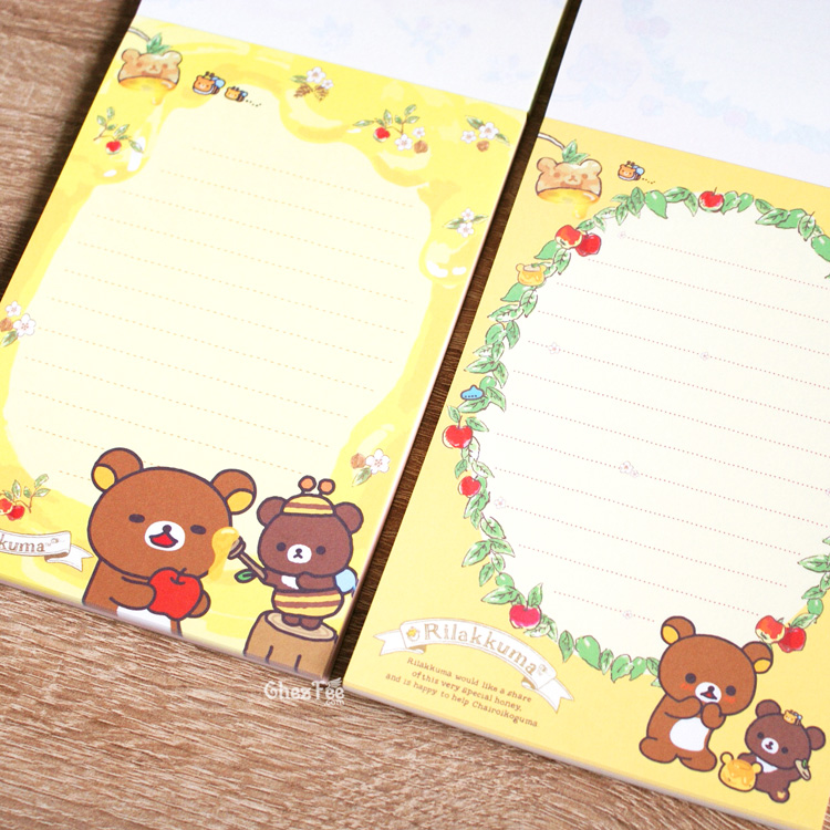 boutique kawaii shop chezfee sanx officiel rilakkuma miel foret carnet illustre 5