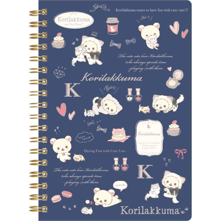 boutique kawaii shop cute chezfee sanx officiel korilakkuma chat neko carnet spiral bleu 1