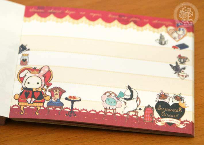 boutique papeterie fourniture kawaii shop en ligne chezfee com mini carnet sentimental circus alice reine6