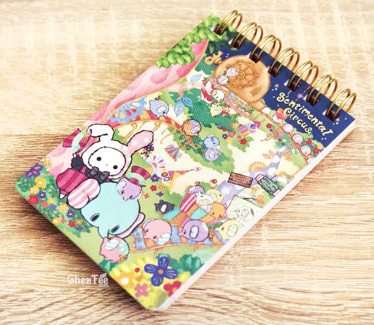 boutique kawaii shop papeterie japanaise chezfee sanx officiel sentimental circus elephant carnet spiral village 1