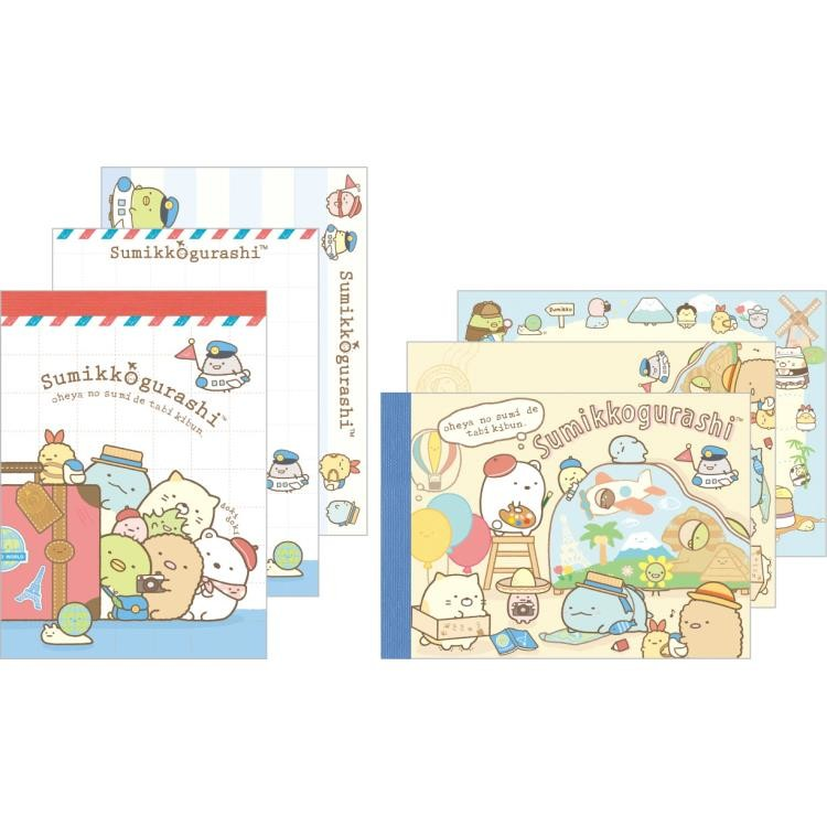 boutique kawaii shop chezfee sanx officiel mini carnet sumikko gurashi voyage vacance 1