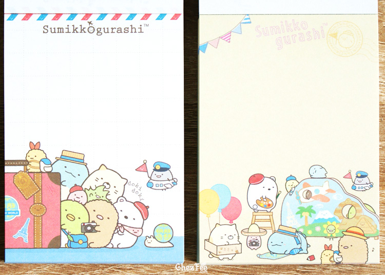 boutique kawaii shop chezfee sanx officiel mini carnet sumikko gurashi voyage vacance 4
