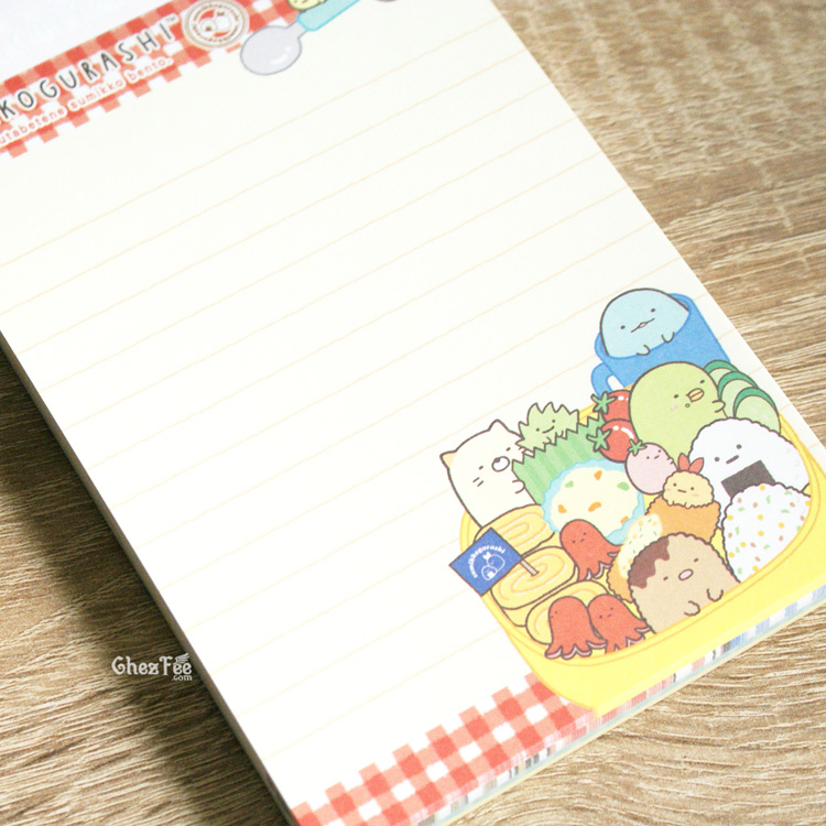 boutique kawaii shop cute chezfee sanx officiel carnet illustre sumikko gurashi bento 5