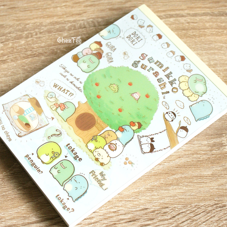 boutique kawaii shop cute chezfee sanx officiel carnet illustre sumikko gurashi foret 2