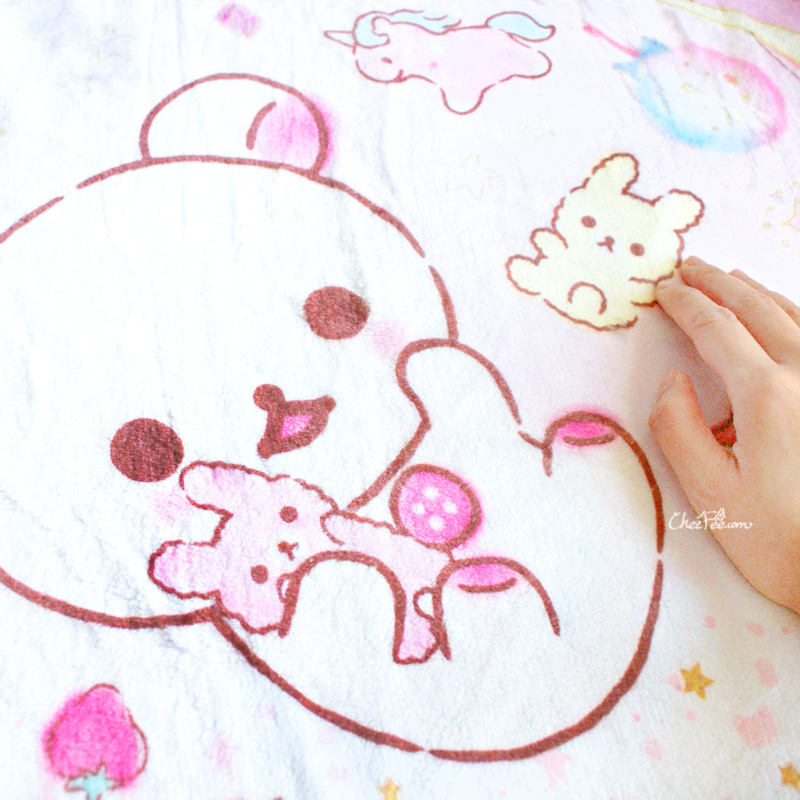 boutique kawaii shop chezfee sanx korilakkuma couverture polaire reve 3