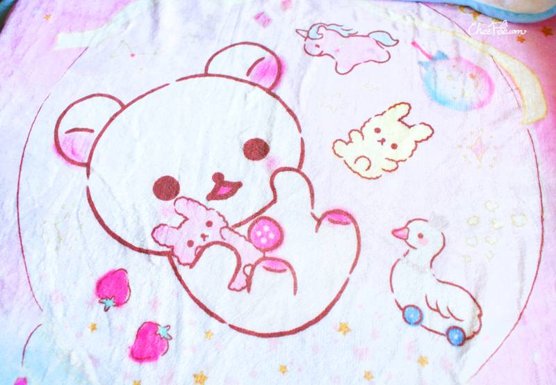 boutique kawaii shop chezfee sanx korilakkuma couverture polaire reve 4