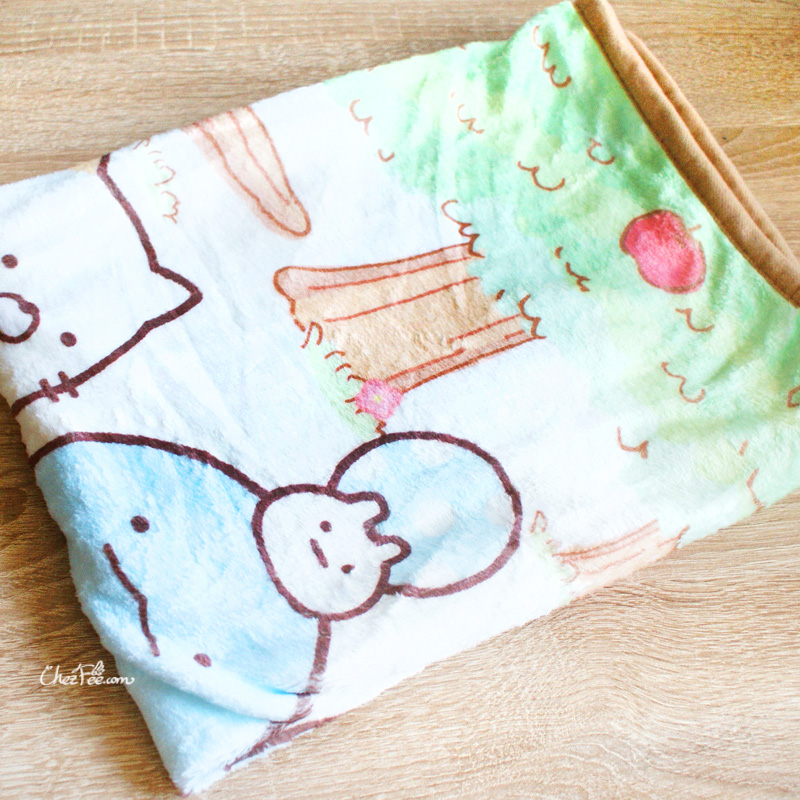boutique kawaii shop chezfee sanx sumikko gurashi couverture polaire foret 2