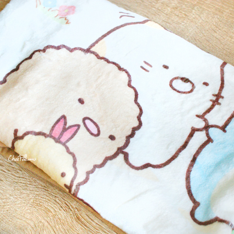 boutique kawaii shop chezfee sanx sumikko gurashi couverture polaire foret 3