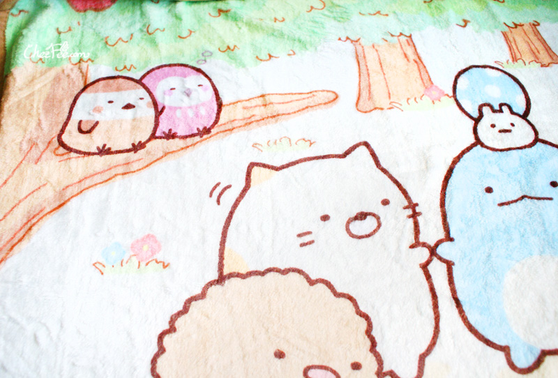 boutique kawaii shop chezfee sanx sumikko gurashi couverture polaire foret 5