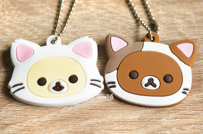 boutique kawaii officiel chezfee sanx rilakkuma chat gashapon porte clef 1