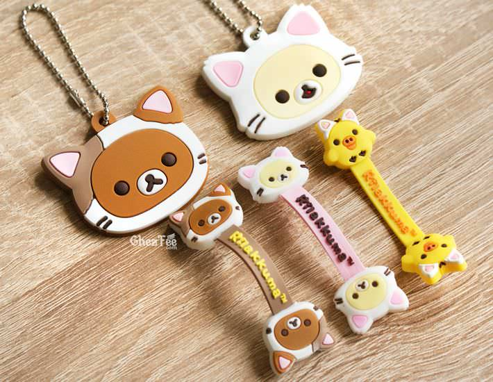 boutique kawaii officiel chezfee sanx rilakkuma chat gashapon range cable porte clef 4