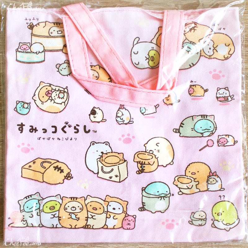 boutique kawaii shop chezfee japan tote bag coton sac vrac sanx sumikko gurashi neko 1