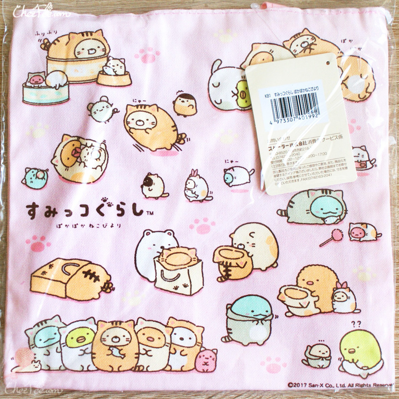 boutique kawaii shop chezfee japan tote bag coton sac vrac sanx sumikko gurashi neko 2