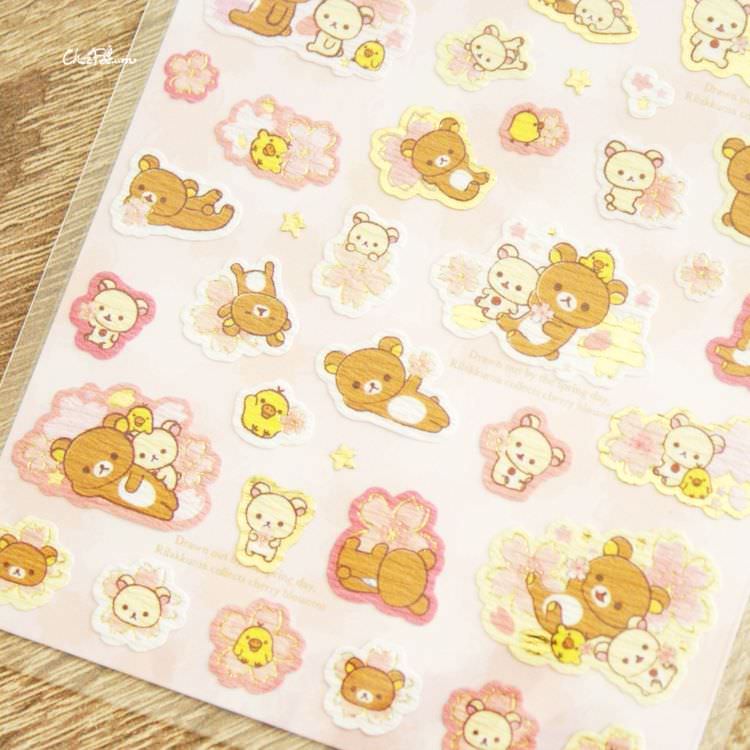 boutique kawaii shop cute chezfee sticker autocollant japon sanx rilakkuma officiel 2018 sakura 3