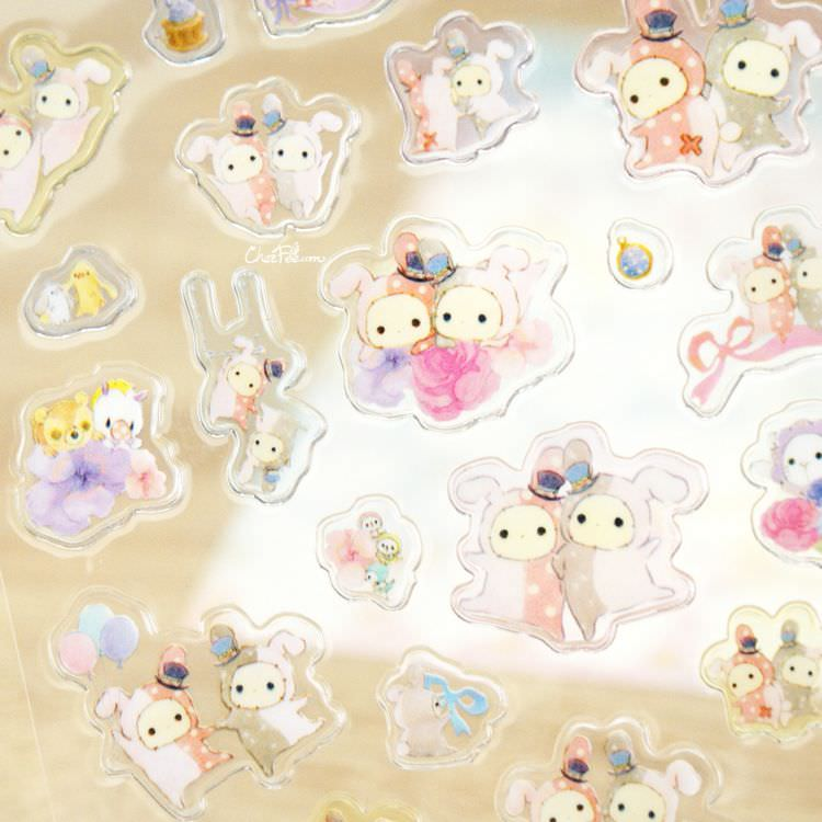 boutique kawaii shop papeterie chezfee sticker autocollant mignon sentimental circus pvc 4