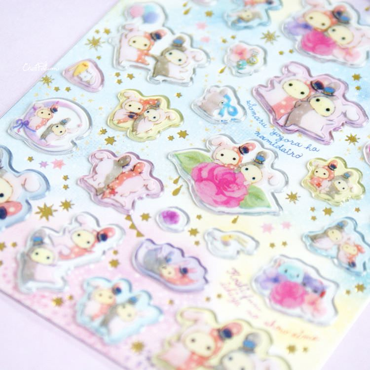 boutique kawaii shop papeterie chezfee sticker autocollant mignon sentimental circus pvc 5
